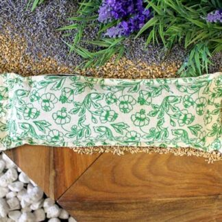Natural Cotton Wheat Bags - Green