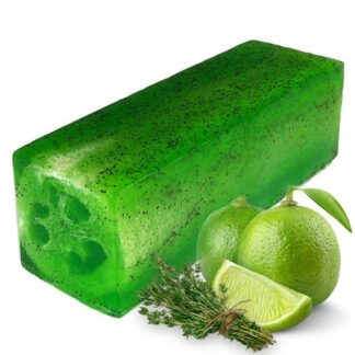 Loofah Soap Loaf - Lime & Thyme Toughy