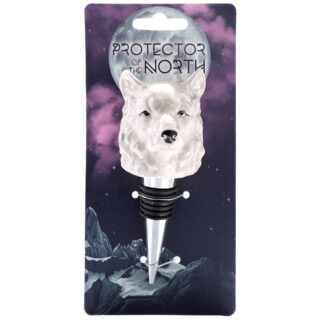 Novelty Ceramic Bottle Stopper - Protector of the North Wolf