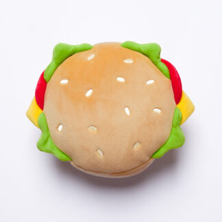 Fast Food Burger Relaxeazzz Plush Round Travel Pillow  and  Eye Mask Set