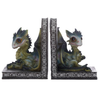 Cute Baby Sweet Dreams Pair of Dragon Bookends