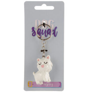 Novelty Collectable Dog Squad Westie Keyring