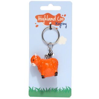 Novelty Collectable Highland Coo Cow Keyring