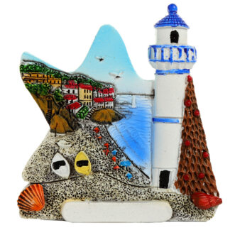 Collectable Seaside Souvenir - Lighthouse Starfish Magnet