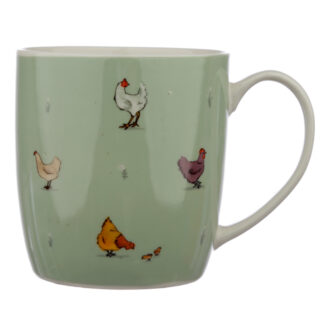 Collectable Porcelain Mug - Willow Farm Chickens