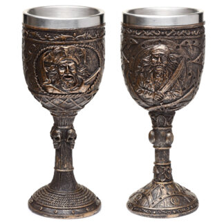 Decorative Brushed Gold Wood Effect Pirate Goblet
