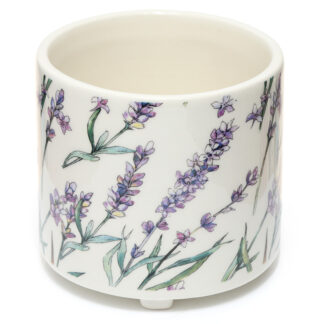 Decorative Ceramic Indoor Freestanding Planter - Small Pick of the Bunch Lavender Fields
