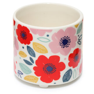 Decorative Ceramic Indoor Freestanding Planter - Small Pick of the Bunch Poppy Fields