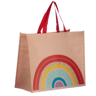 Somewhere Rainbow Recycled Plastic Reusable Shopping Bag