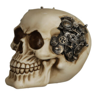 Fantasy Steampunk Skull Ornament - Cogs and Gears