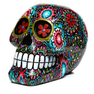 Fantasy Ornament - Floral Day of the Dead Skull
