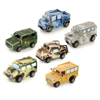 Fun Kids Pull Back Camouflage Car Puzzle Toy
