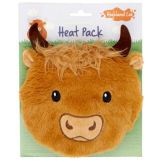 Round Highland Coo Cow Microwavable Plush Heat Wheat Pack