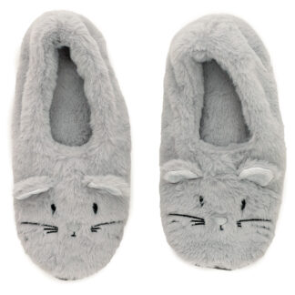 Toesties Heat Wheat Pack Warmer Slippers - Mouse