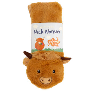 Highland Coo Cow Neck Warmer Wrap Around Microwavable Plush Heat Wheat Pack